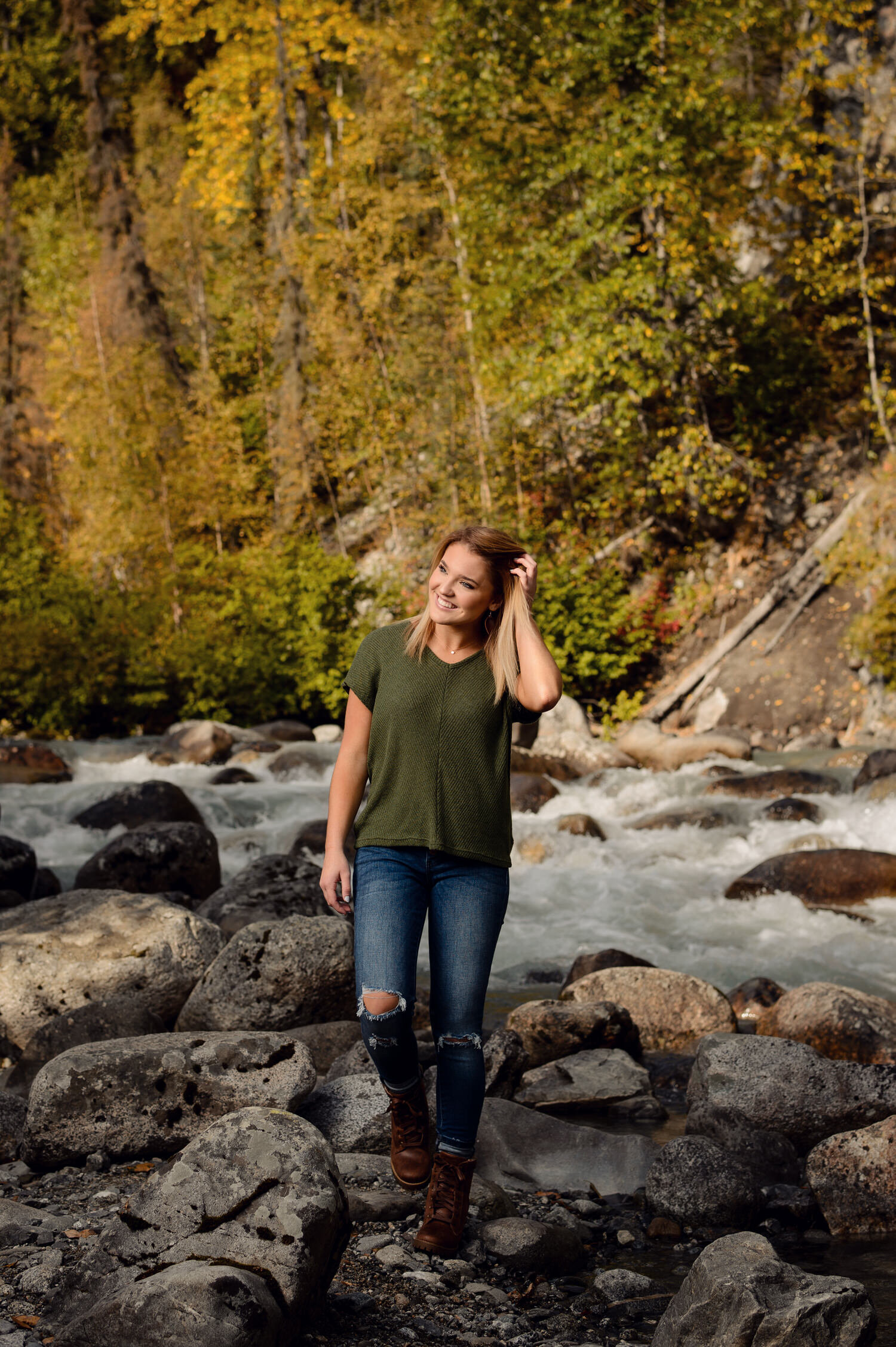 Alaska senior girl portrait