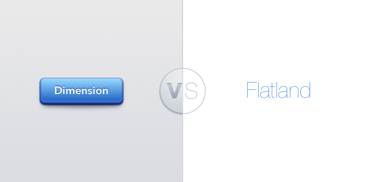 Which of these two elements looks like a button to you? This distinction lies at the heart of the debate between expressive designers and the modern minimalists who dominate interface design today.