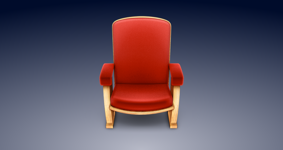 Apple's deprecated armchair icon for the  Front Row  app.