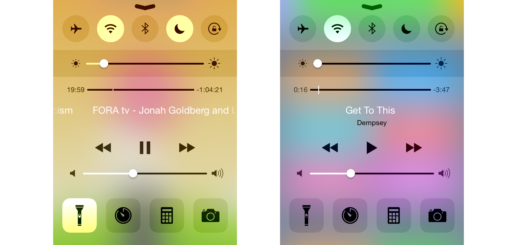 This is how colors are displayed on iOS.
