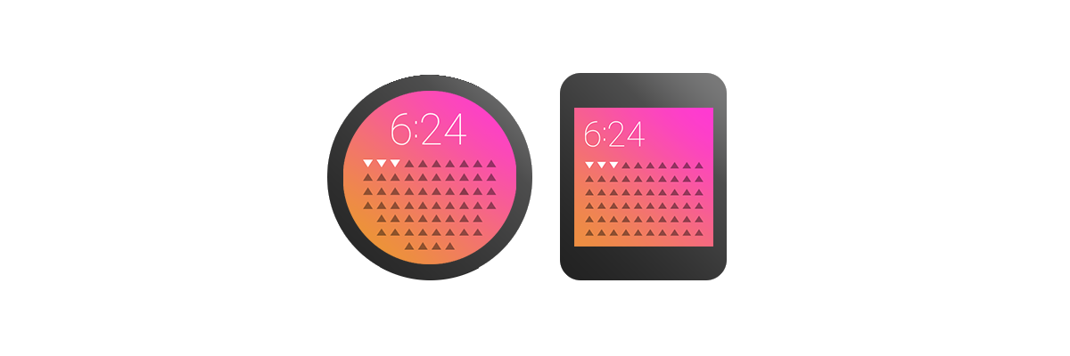 Google approves of the same repulsivepalettes as Apple and Microsoft. These are from the  Android Wear  line of watch interfaces.