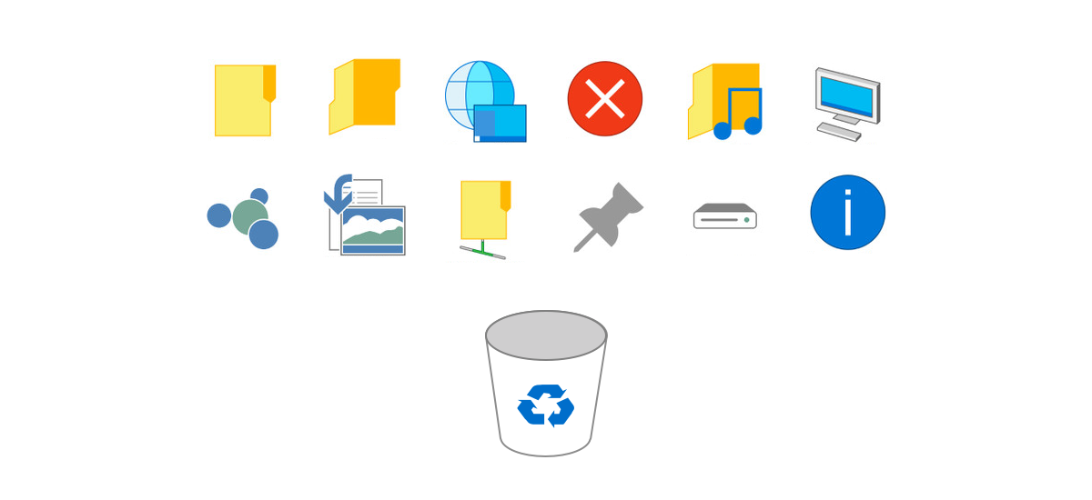 The dreaded Windows 10 beta icons.