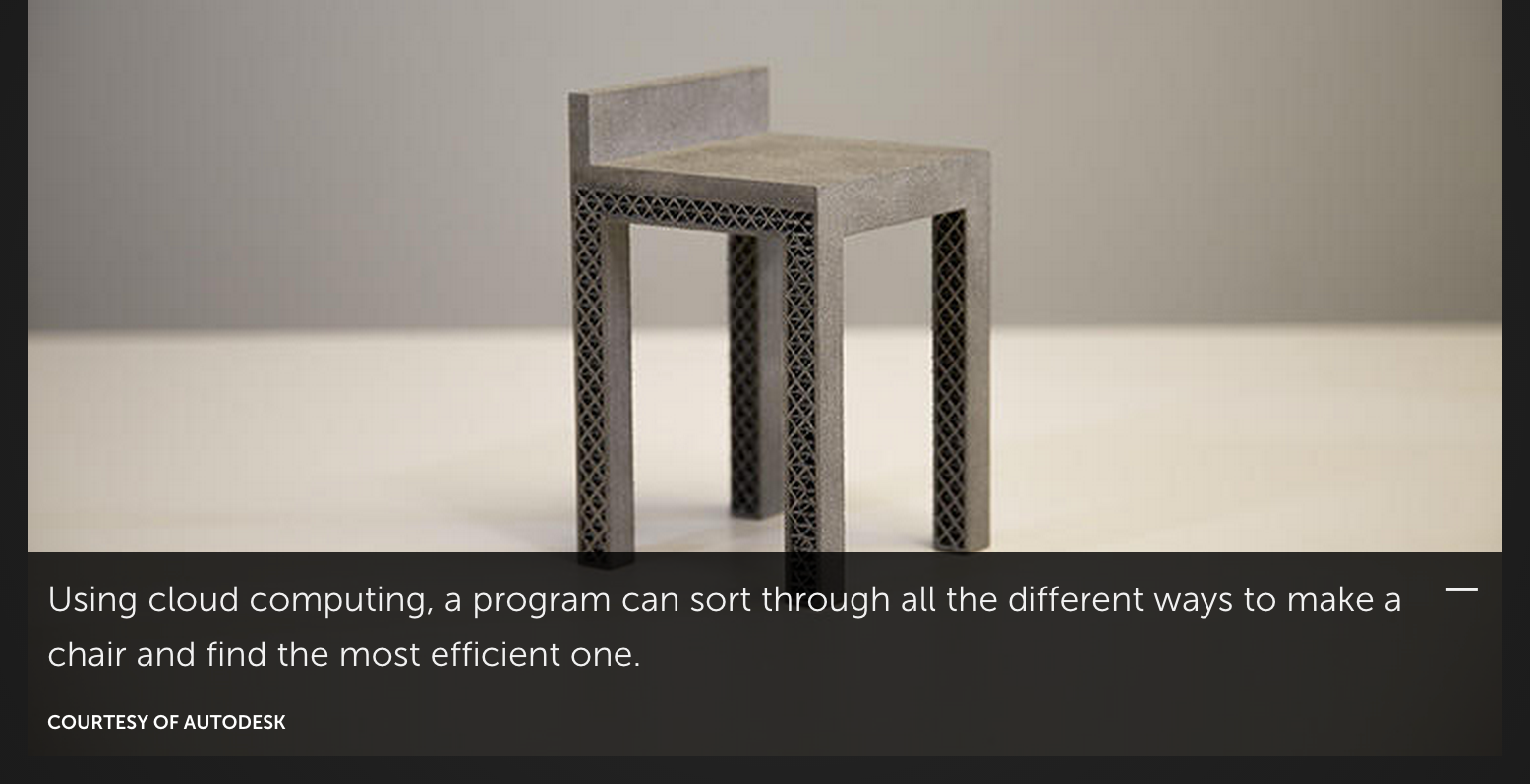 "Ferro points out ""A computer isn't constrained by preconceived notions of what a chair should look like."" It may be true that the chair was efficiently produced by a computer, but it still looks incredibly uncomfortable."