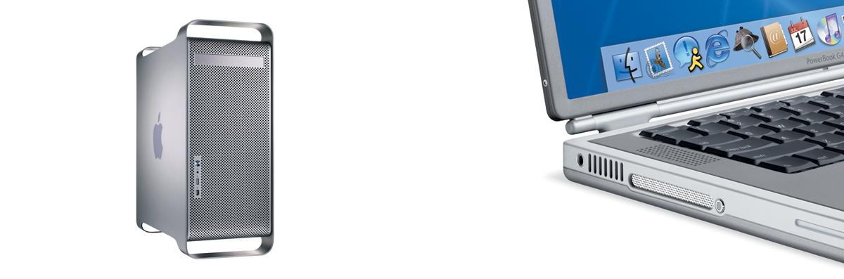 The PowerMac G5 and PowerBook G4.
