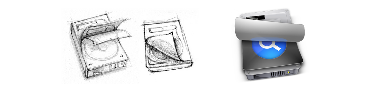 Baumann's SmartBackup sketches and production icon.