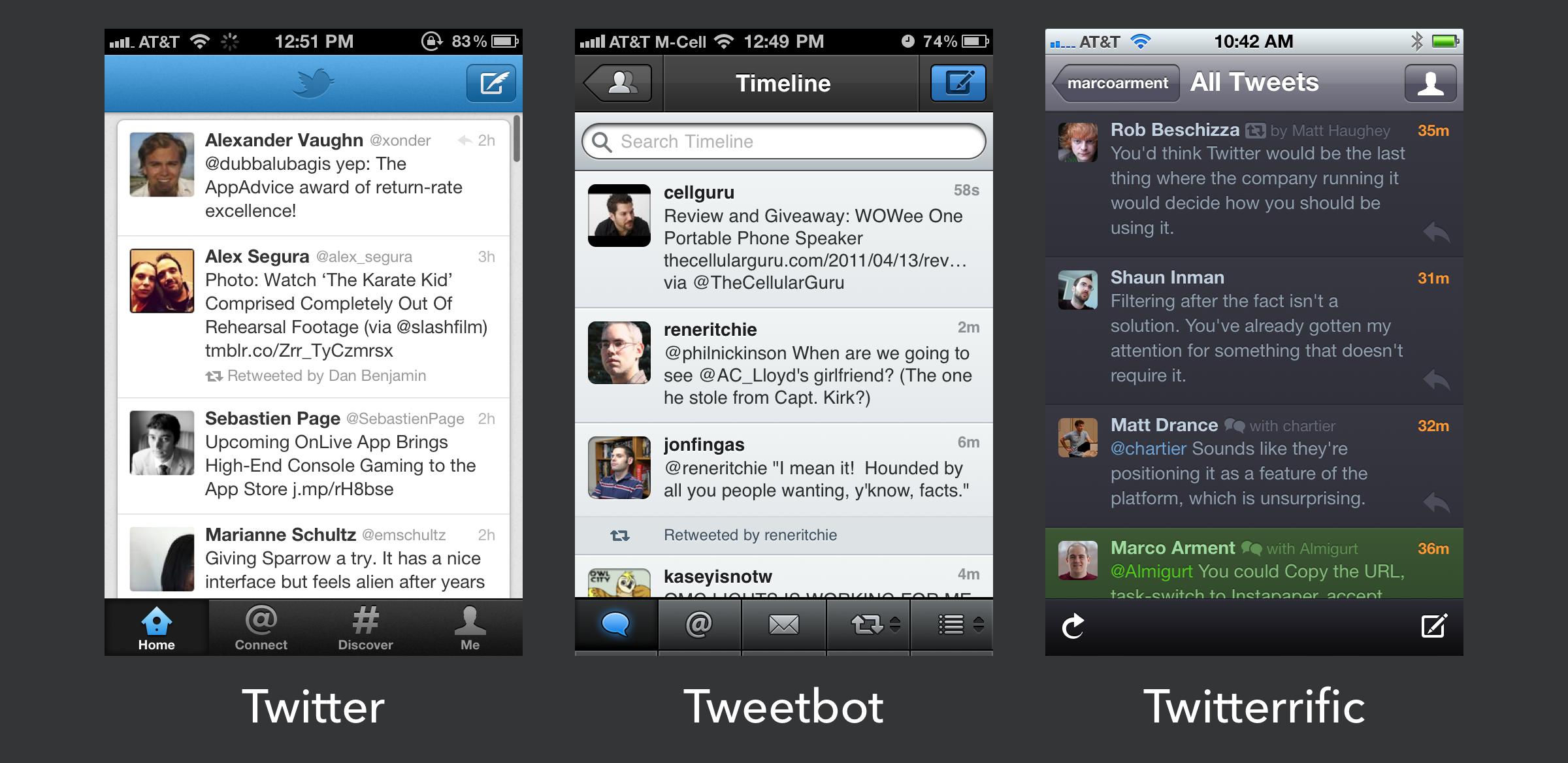 iOS Twitter clients pre-iOS 7.