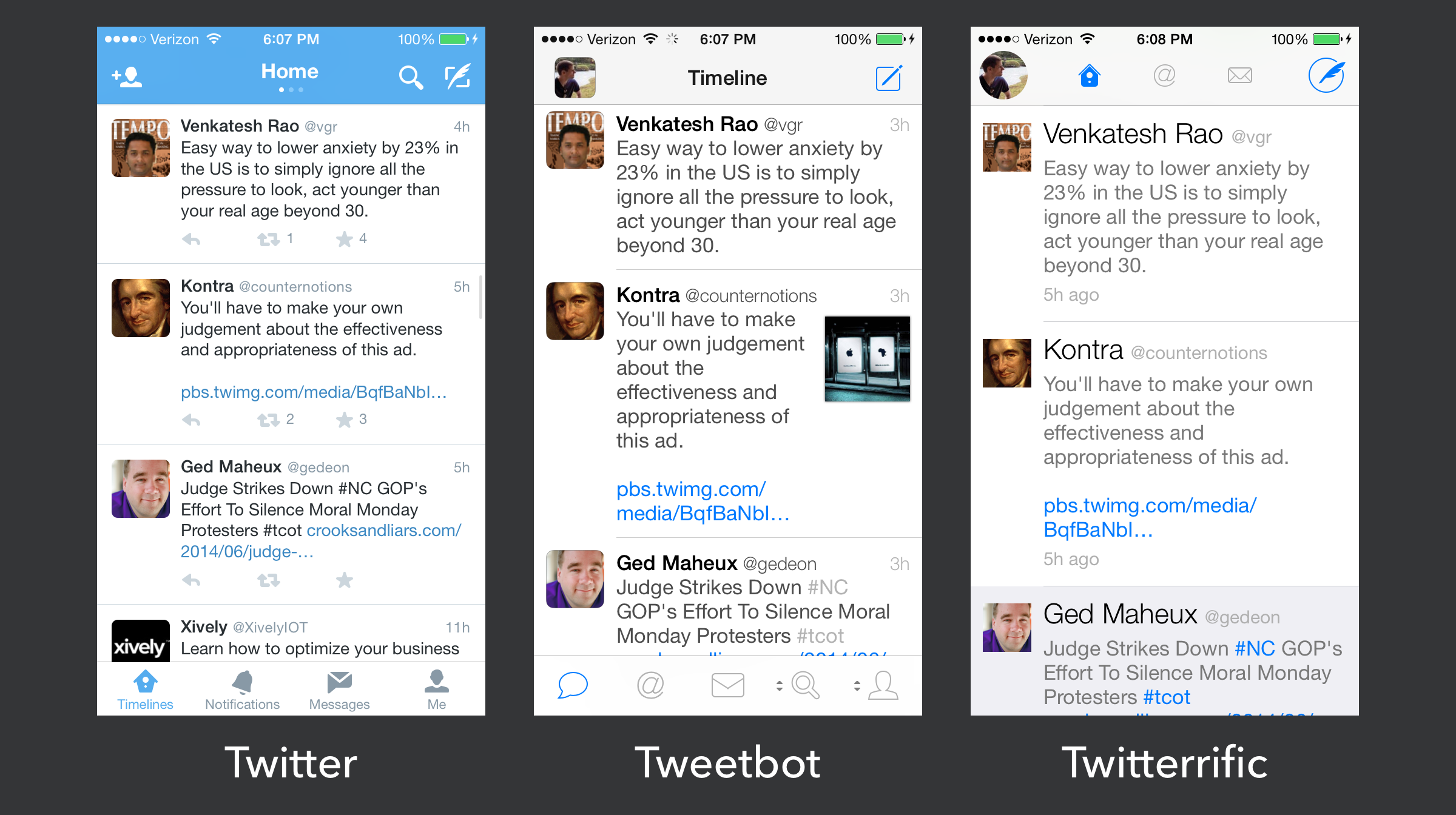 iOS Twitter clients shortly afteriOS 7 launched.