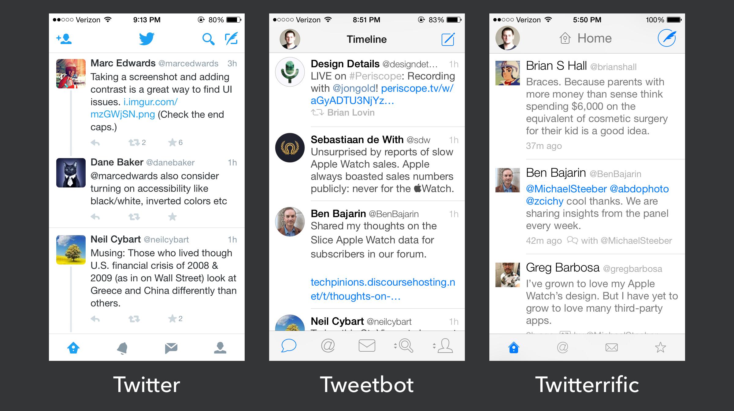 iOS design today.