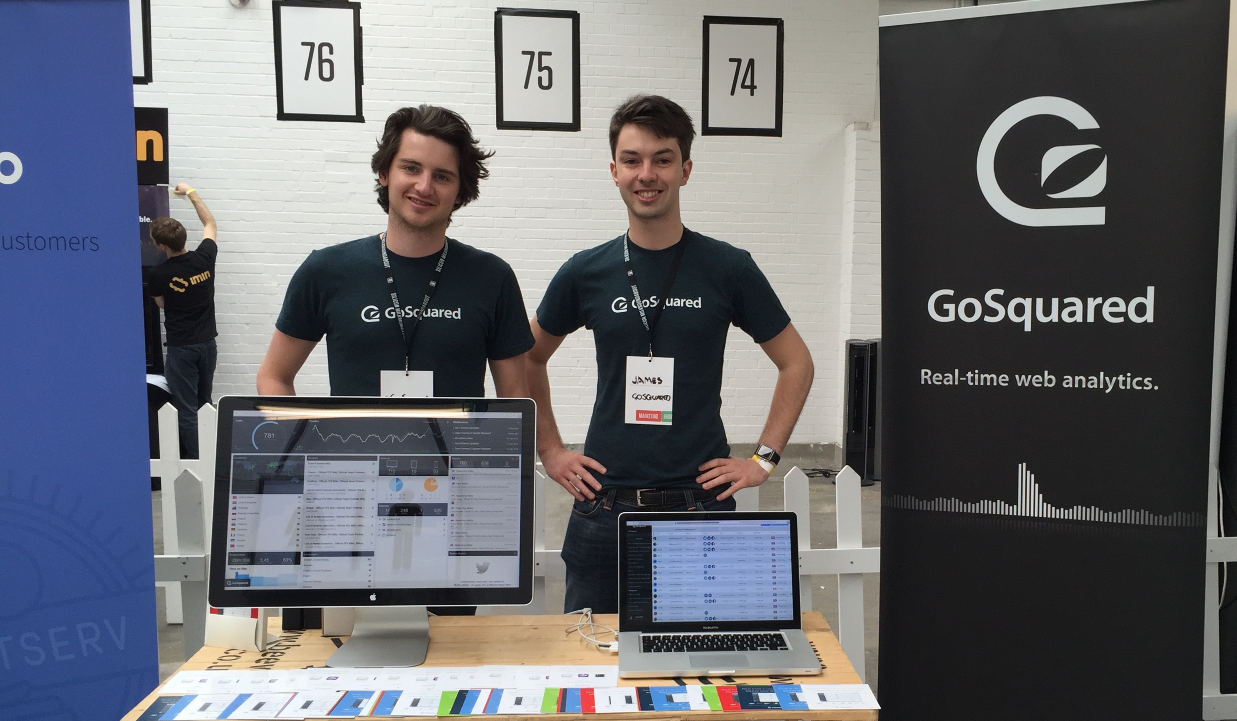 Hugh Hopkins (left) and James Gill (right)of GoSquared.