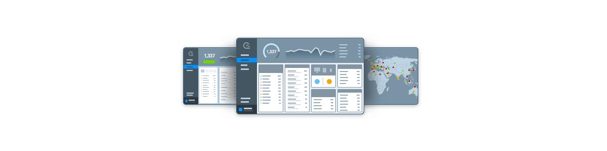Illustration of the GoSquared dashboard.