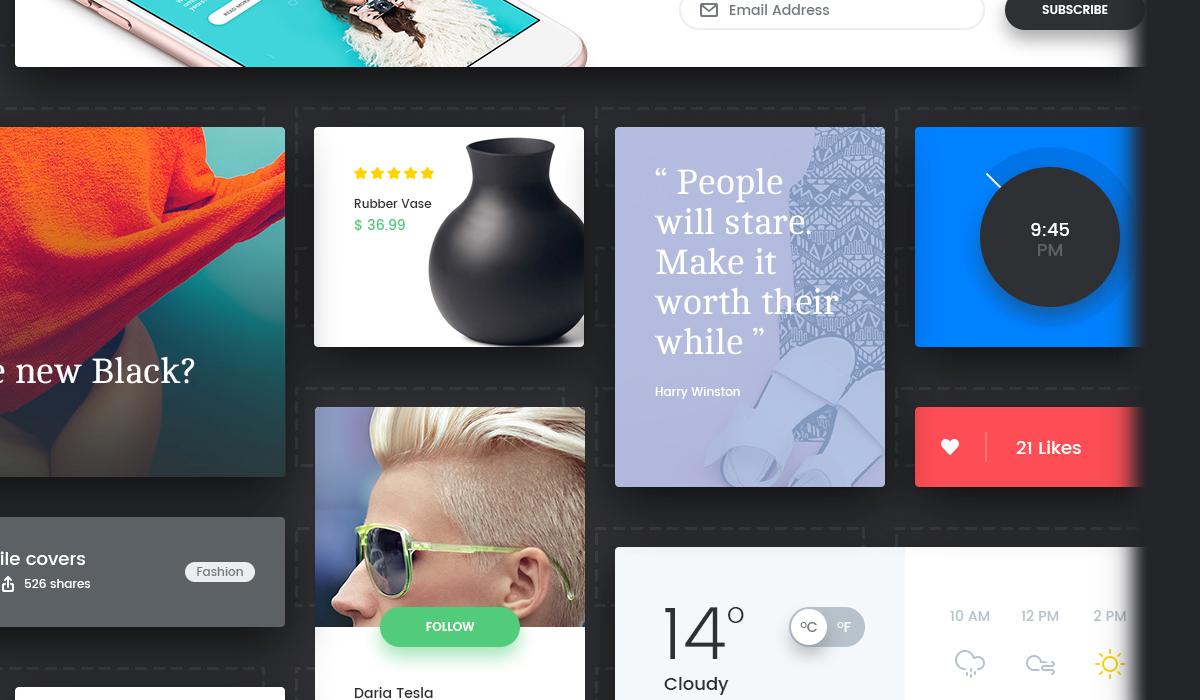 "Nechita's "" Soft Material "" UI kit based on the 100 Days aesthetic."