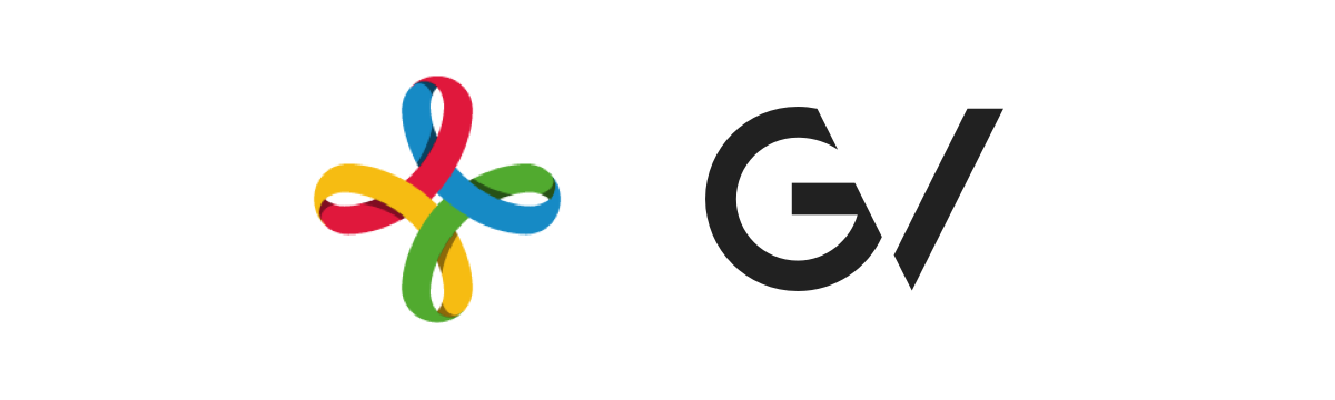 The original Google Ventures logo (left) and the final Google Ventures logo (right.)