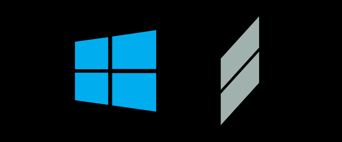 Scher's logo (left) and Kim's redesign (right.)