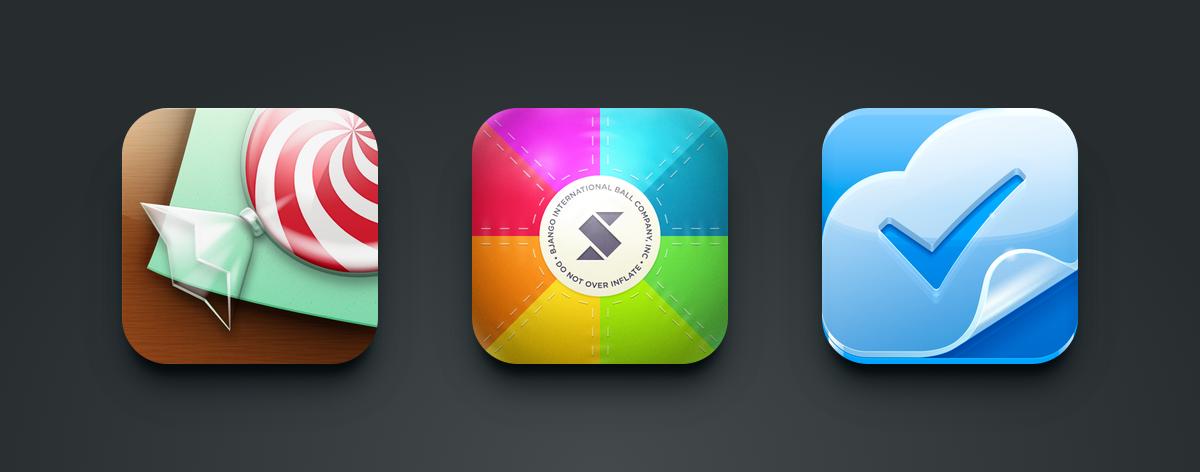 Dimensional icons for Tipulator, Skala View and Doit.im.