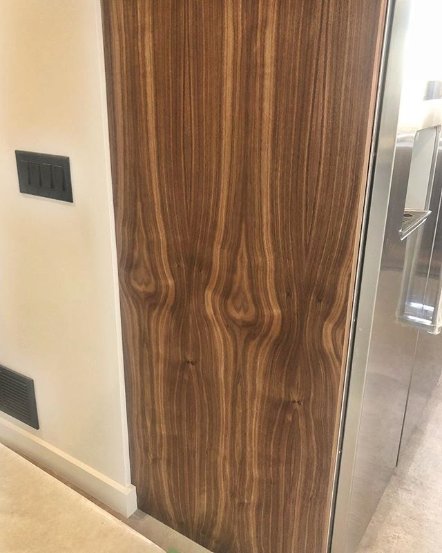 Pair of Walnut ❤️'s #integrity_construction_inc #contractor #builder #remodeler #renovator #walnut #walnutheart #endpanel #kitchen #minnesota #twincities
