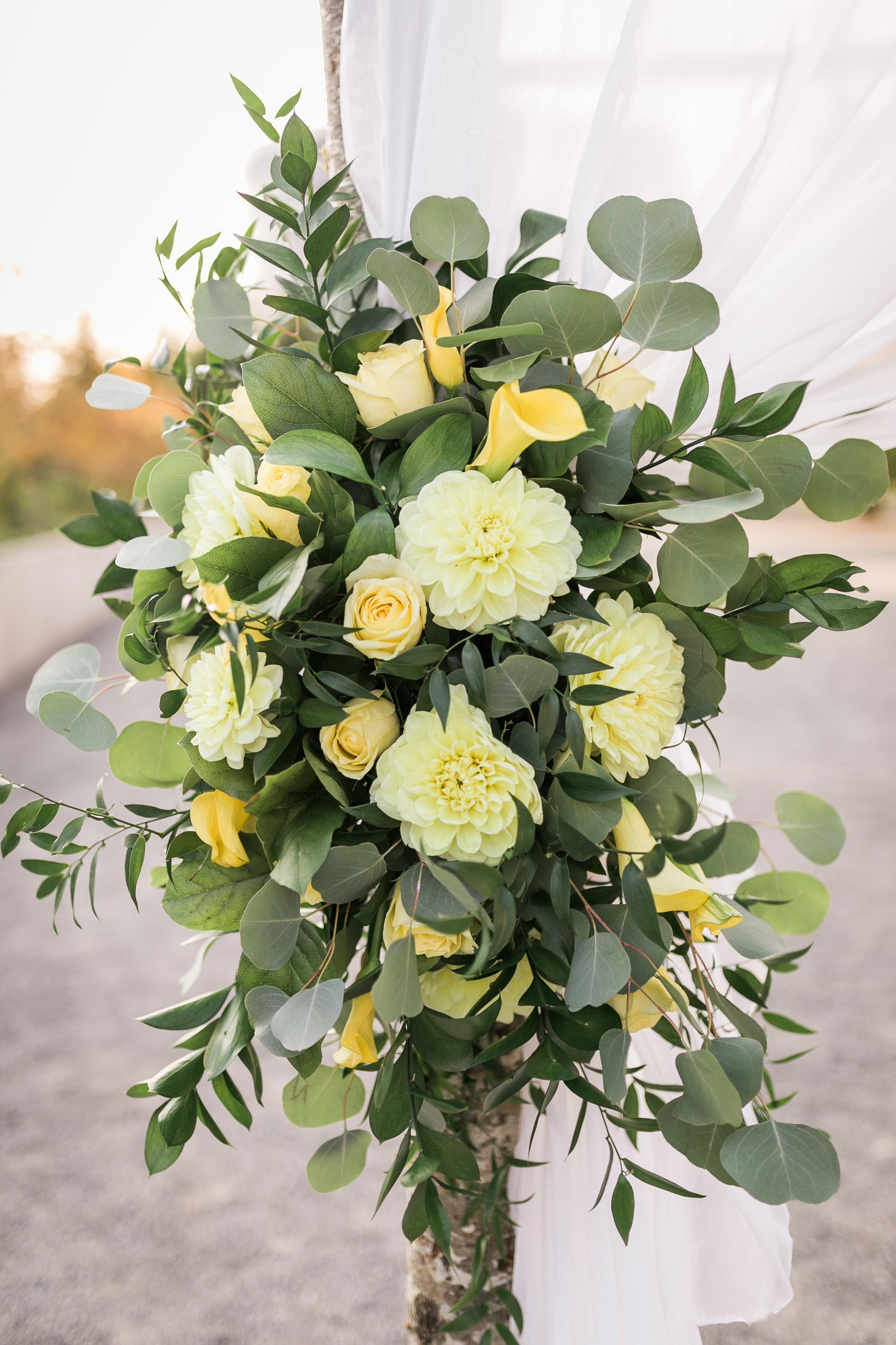 seattle-wedding-chuppah-greenery-yellow-floral-lush-northwest