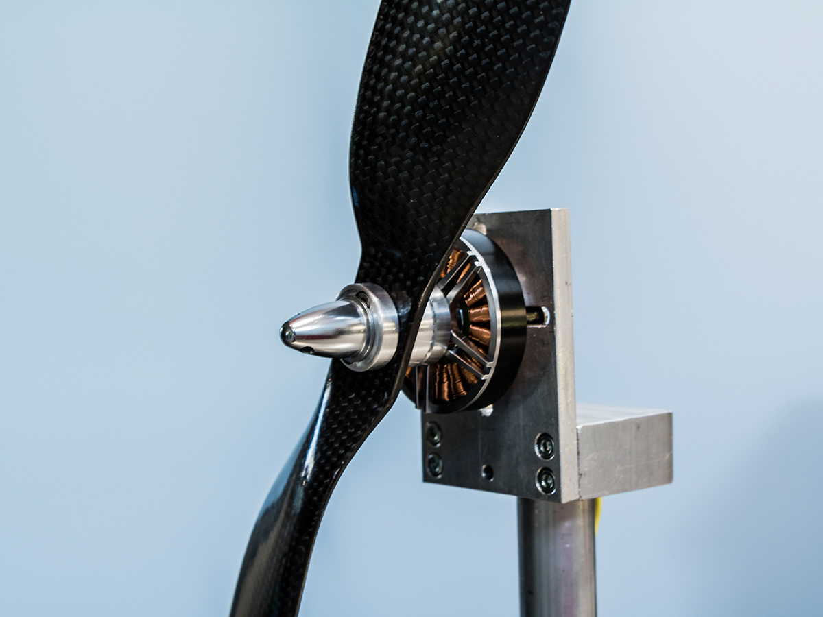 Motor-propeller Testing - Actual performance data for UAS design, purpose-built by SkyborneWind tunnel integration for extended results