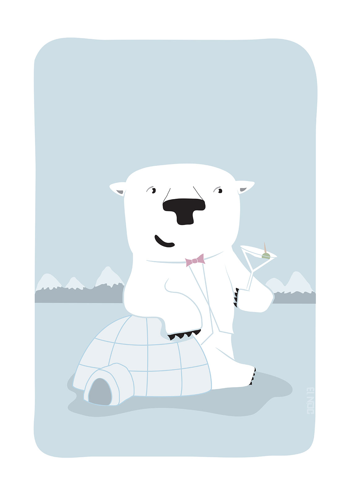 "Snowy Bear the Suave Polar Bear - ""Up North"" series 2 of 3"