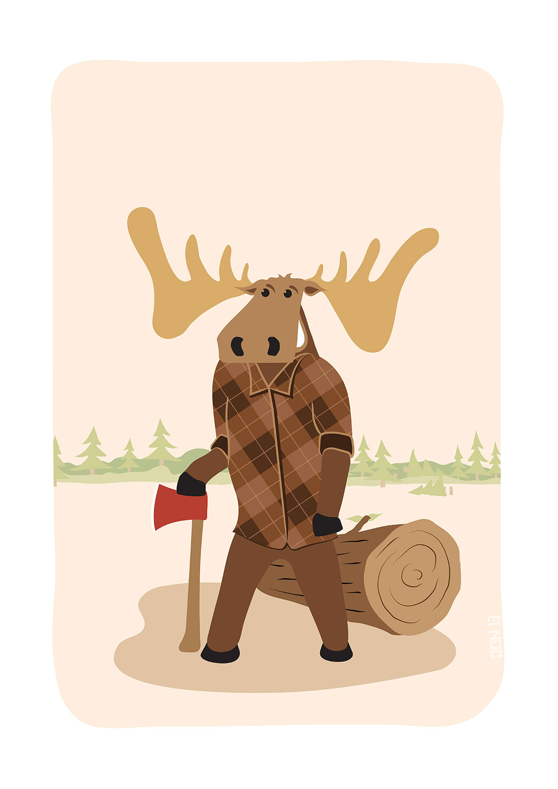 "Timothy McGilicutty the Lumberjack Moose - ""Up North"" series 3 of 3"