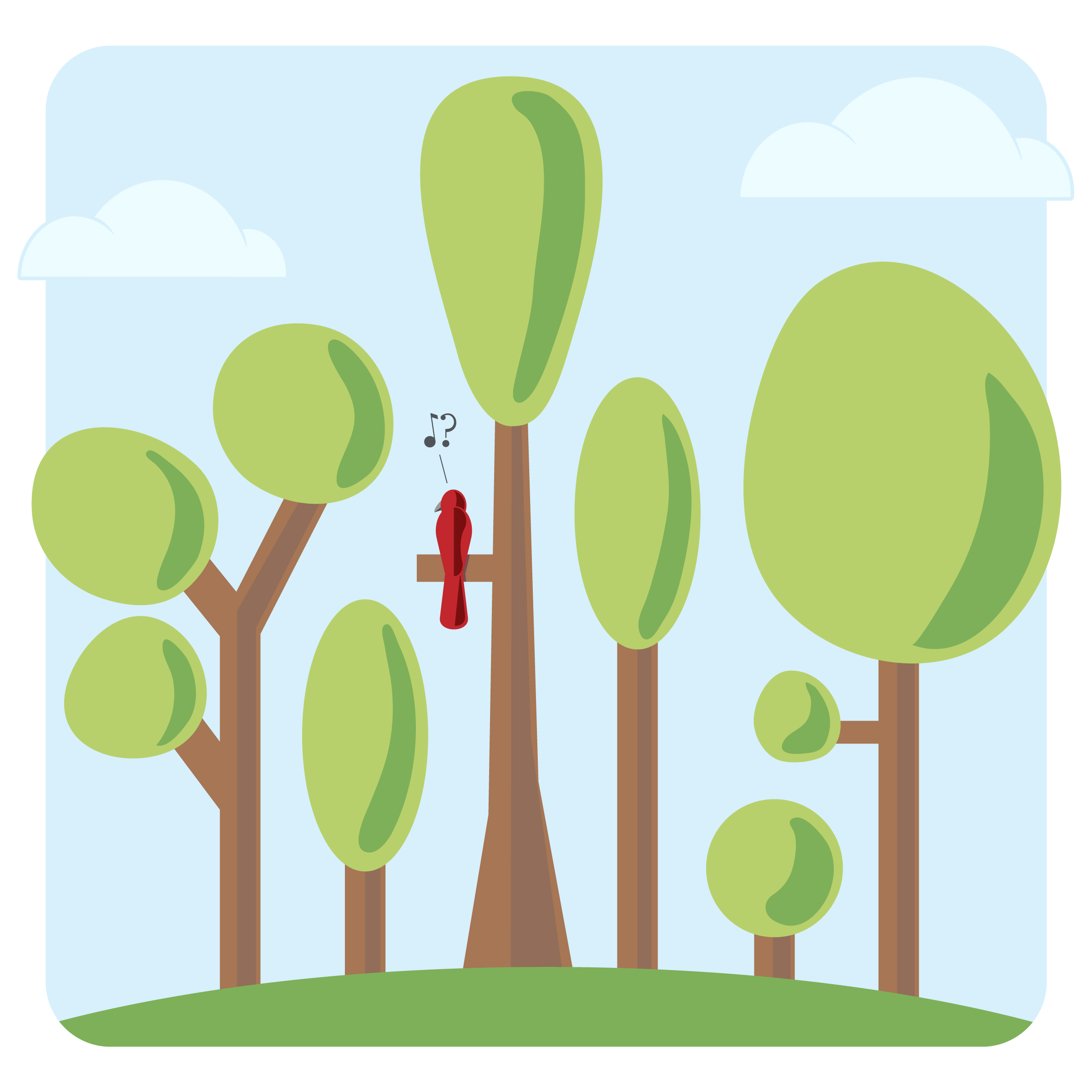 "Vector illustration, depicting the notion of  ""empty forest""  syndrome"