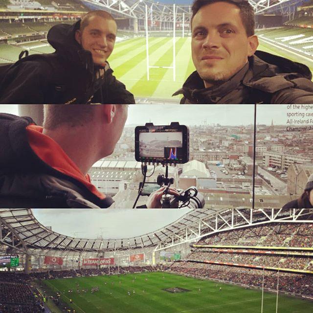 Nous étions à Dublin ce weekend dans le cadre du tournoi des 6 nations et du match Irlande/France. Voyage organisé par @hemispheresvoyages pour qui nous avons filmé quasiment toutes les étapes et prestations proposées à ses clients. Grosse défaite mais super weekend ! :-)