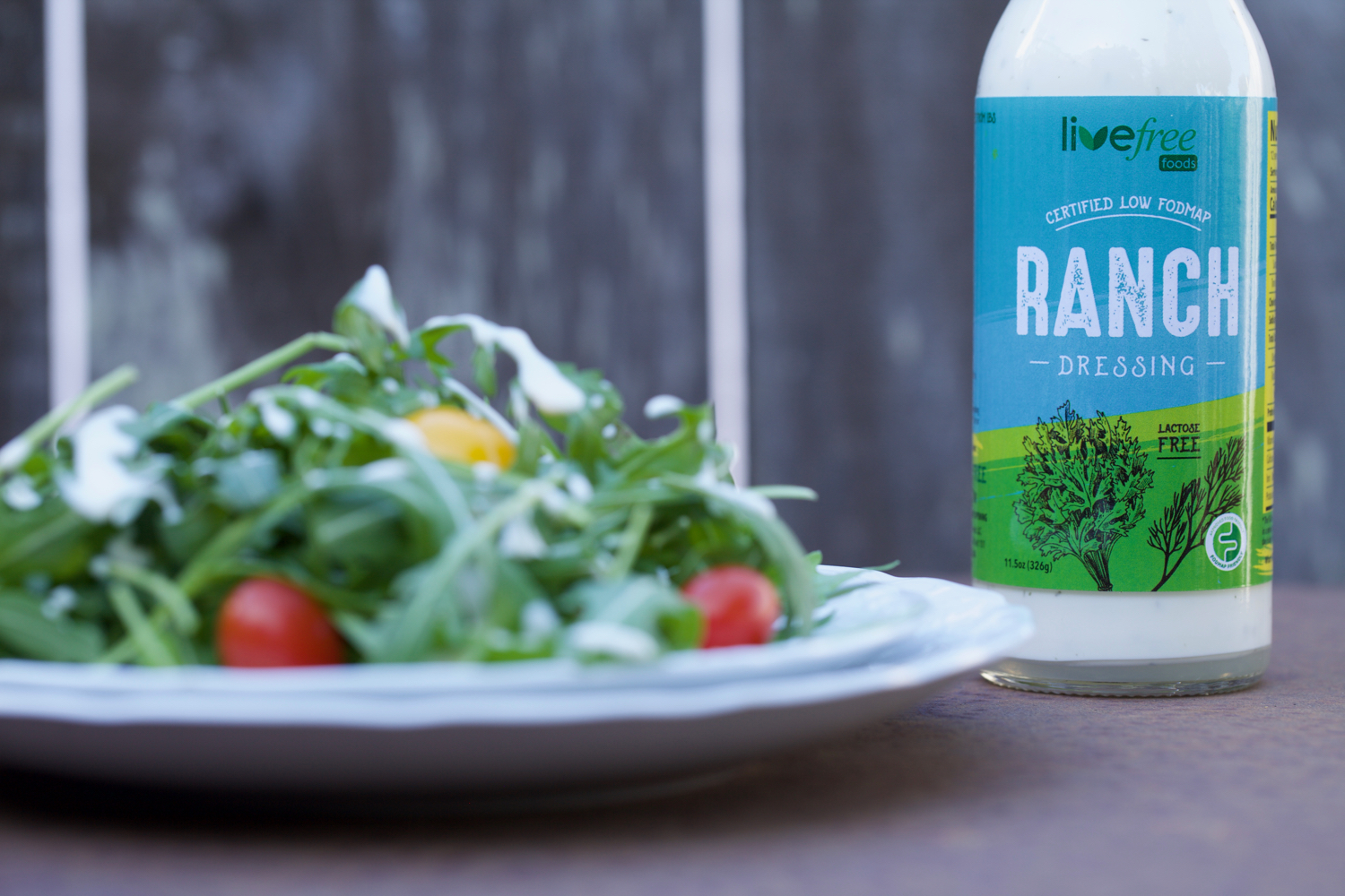 Photo of Live Free Foods Ranch Dressing with Arugula Salad by Posh Belly's Kitchen