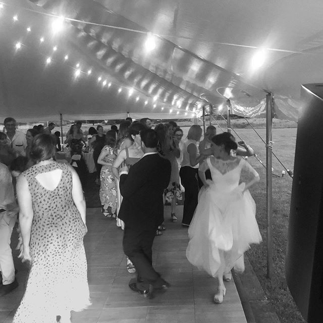 Gotta love a bride led conga lined trailed by 140 guests! Congratulations to Rachel and Sam!