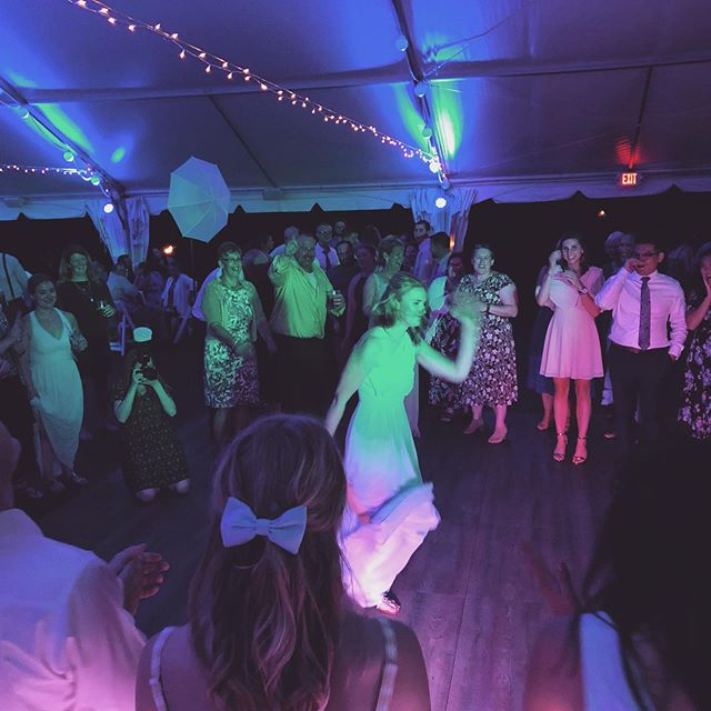 Lots of dance circles, sing alongs and overall good times last night! Congratulations Lauren and Nate!