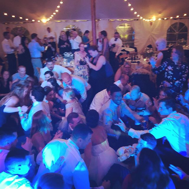 Sometimes you gotta get down! Congratulations to Alex and Craig. Great time last night!