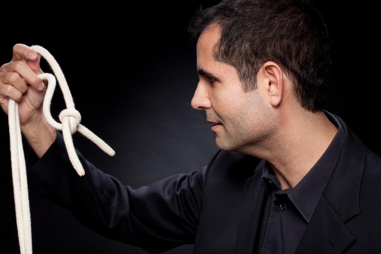 Zauberer Geburtstag - Thomas Antosi mit Seil