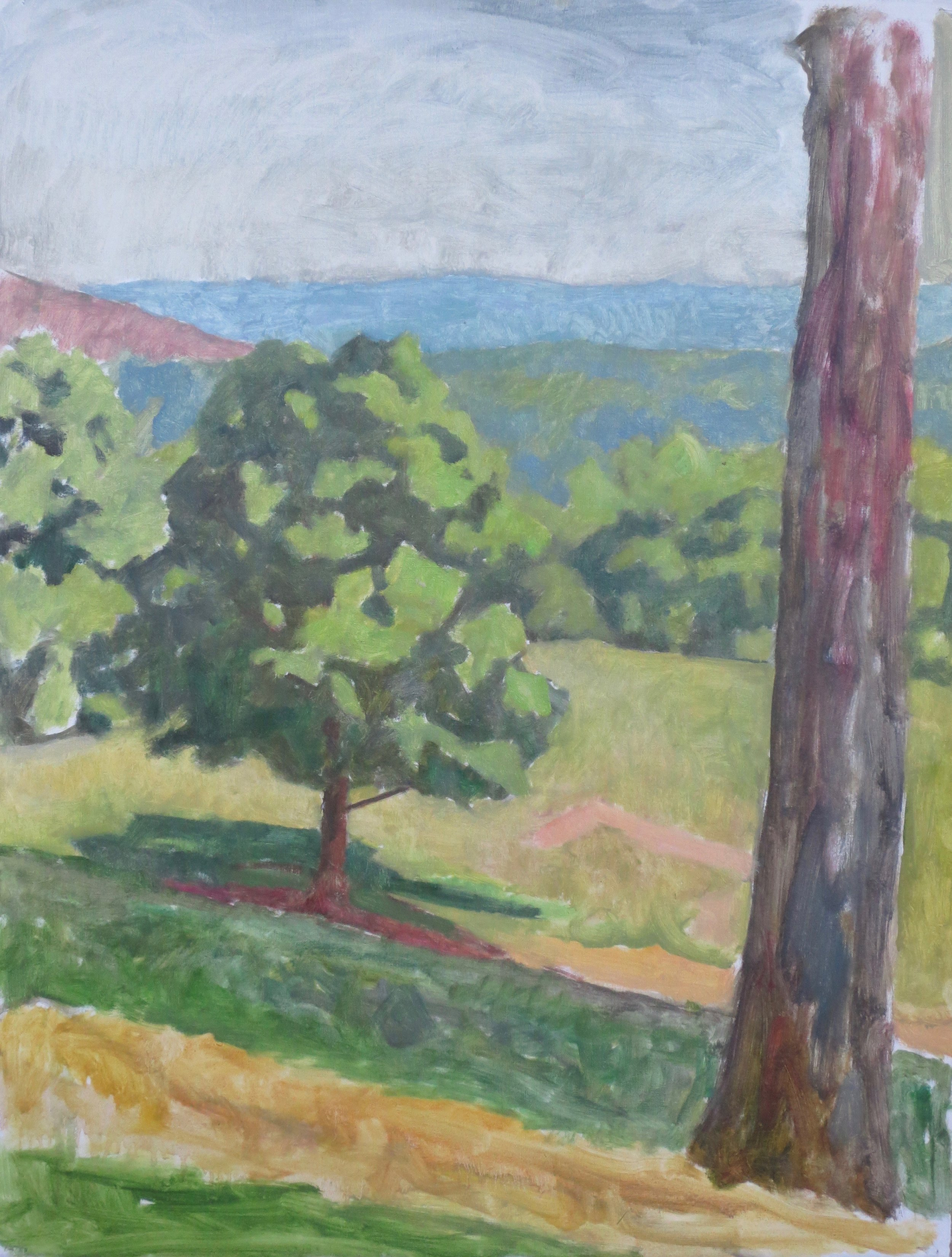 Pasture with Trees, 2016