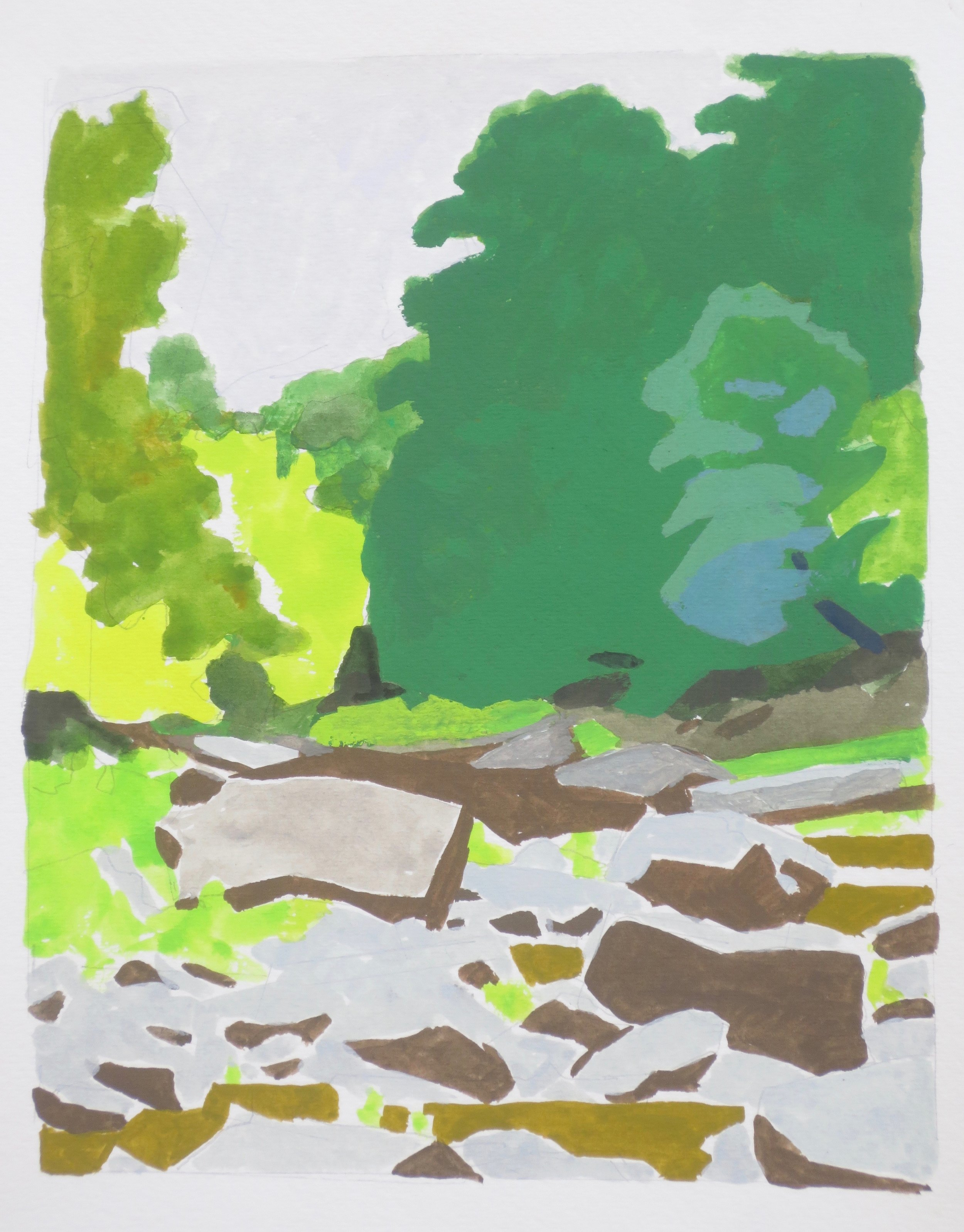 Riverbed Rocks, 2016