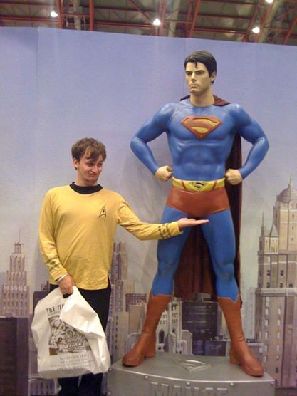 As you can see, mortal men can feel pretty inadequate next to Supes.