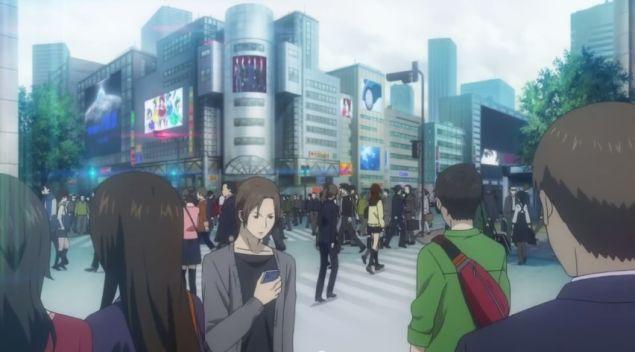 Shibuya's iconic Scramble Crossing.