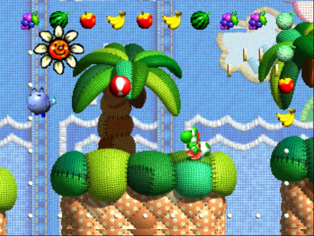 That flower's so happy because it's in this Yoshi game, and not any of the ones that followed it.