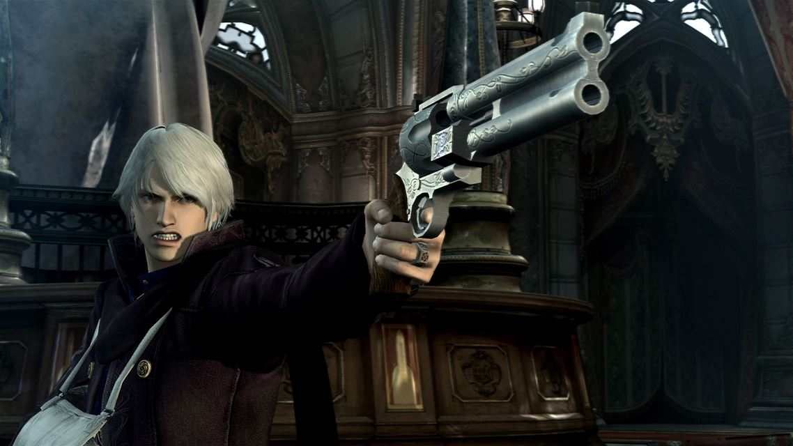This is Nero, a completely separate and unique character from Dante. His coat is purple.