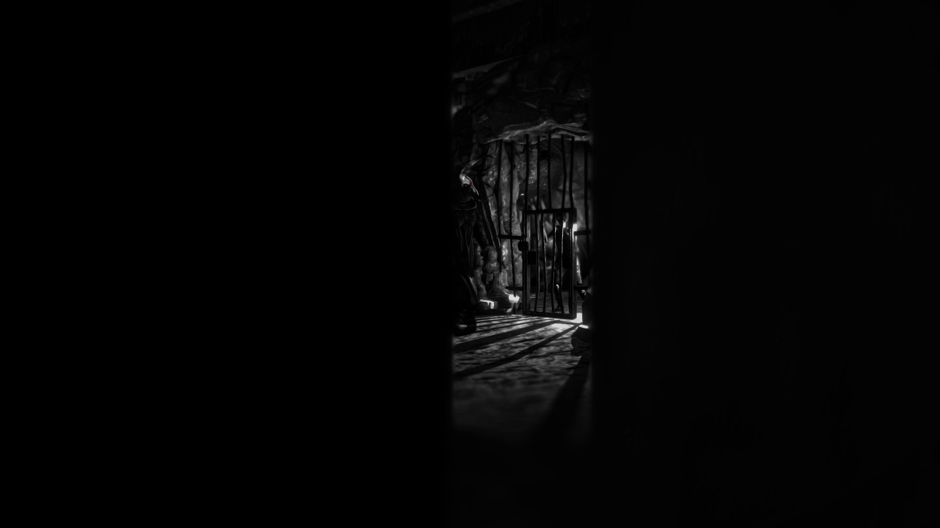 Hiding in a cupboard, the shadows add greatly to the unsettling atmosphere