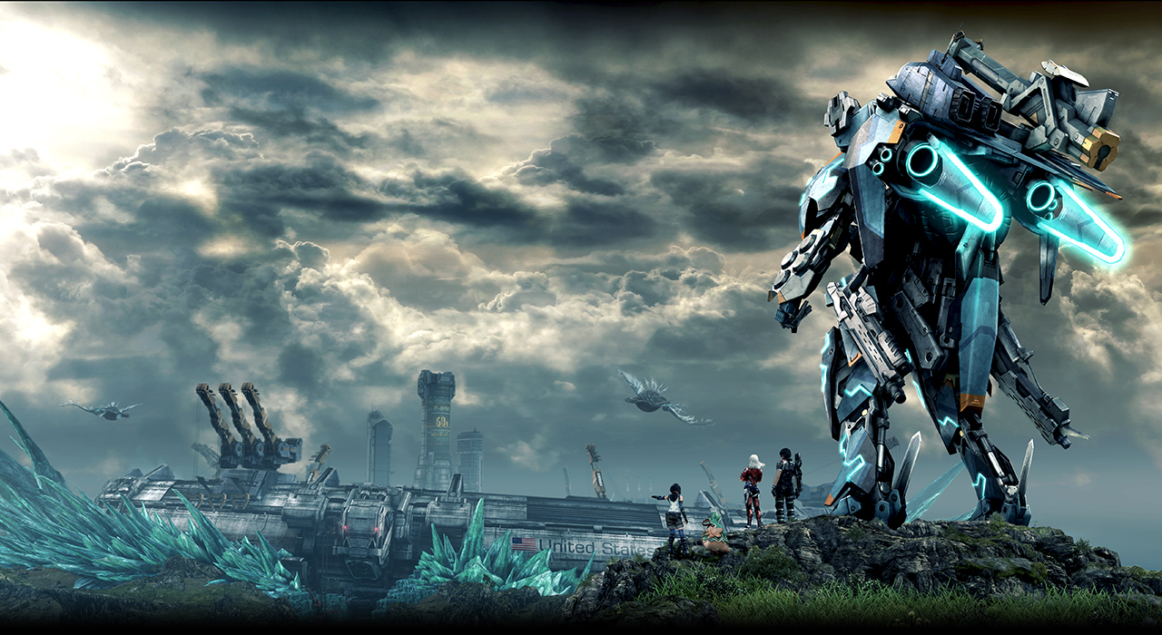 Like these anime people and their mech, let us look to the horizon!