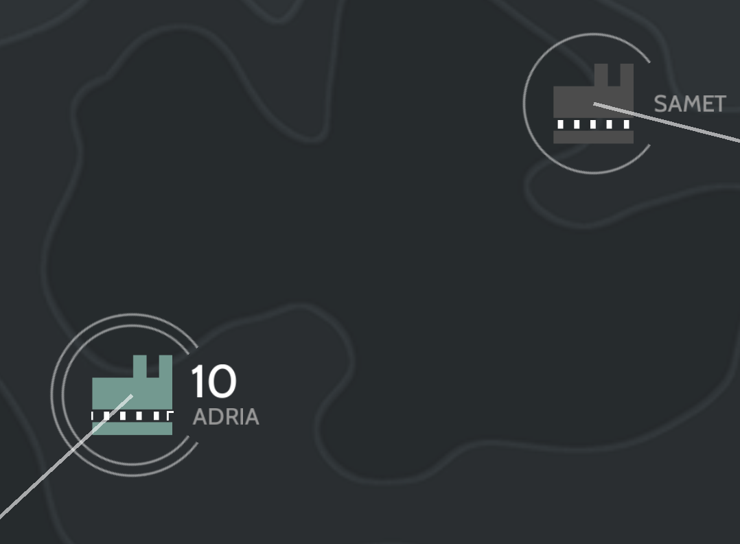 Adria is the name of a town in Italy, believed to have given name to the Adriatic sea.