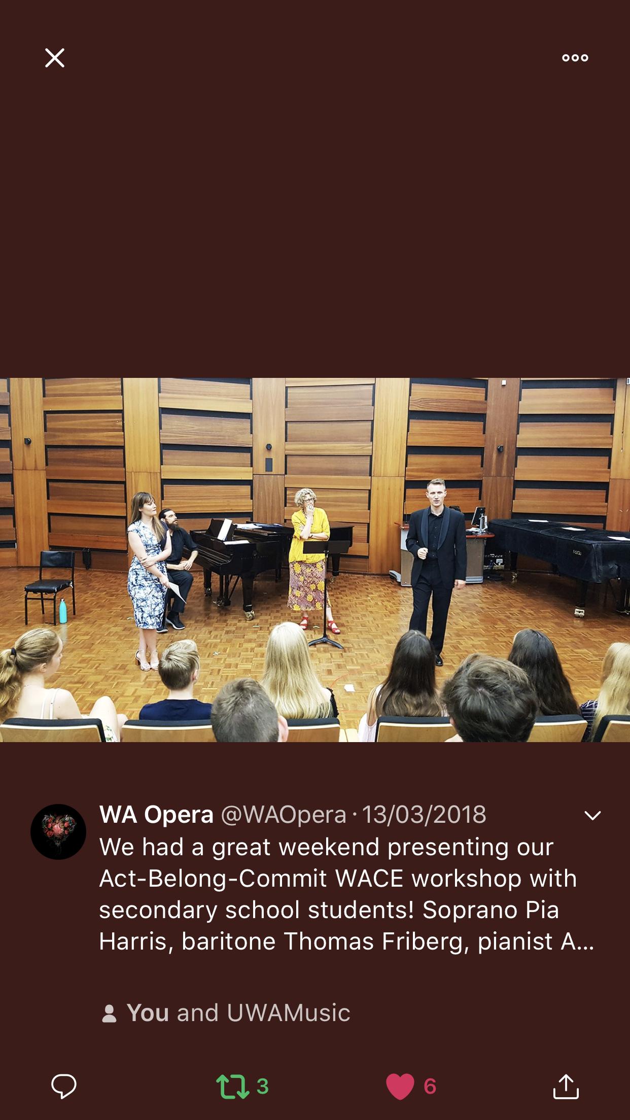 West Australian Opera 2018
