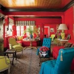 Architectural Digest – Wildly colorful room designed by Thomas Britt