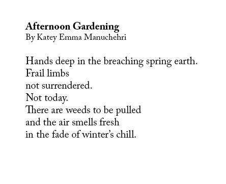 Katey Emma Manuchehri - Afternoon Gardening