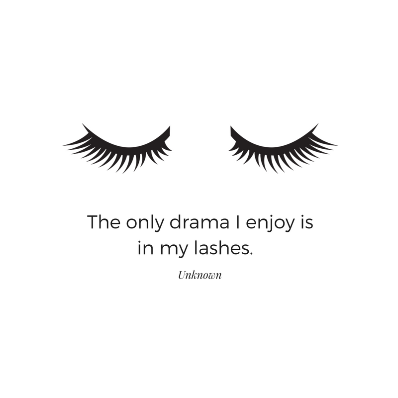 Example of a social media graphic using an eyelash icon from the Haute Stock Library.