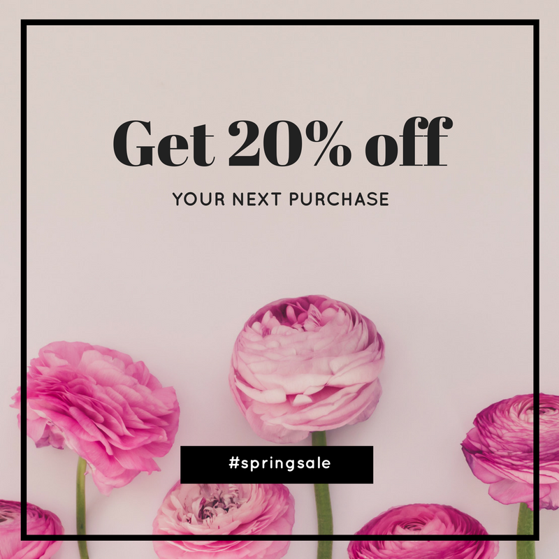 Get ready for your next promotion by creating promo/sales graphics using Haute Stock styled stock. To see more floral graphic examples, click here to view the full article!
