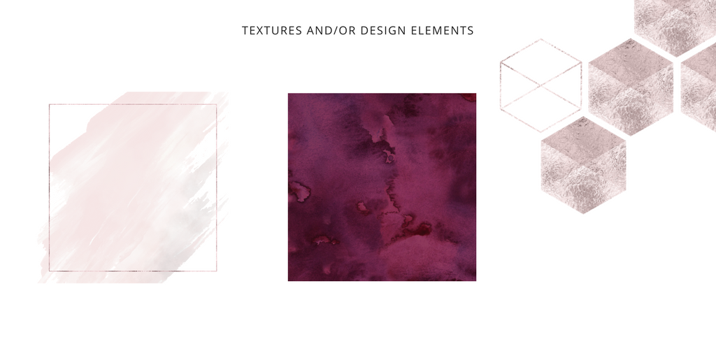 Second step to creating a Brand Style Guide - your textures/design elements! To see the full list of steps click here!