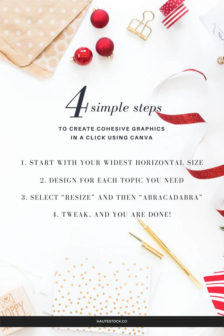 4 Simple steps to create cohesive graphics in a click using Canva,