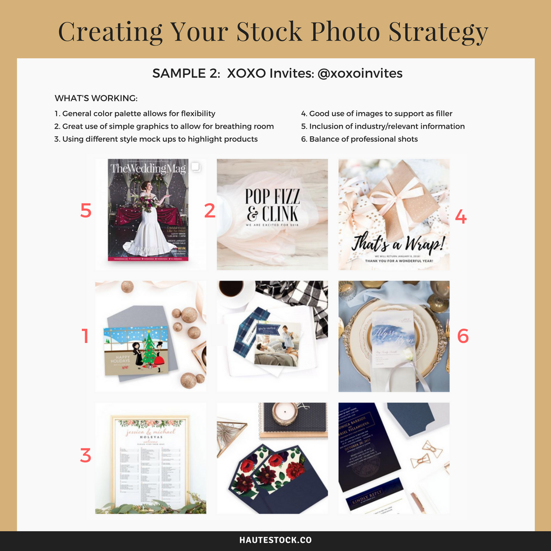 How to use mix stock photos with brand photos for a cohesive feed