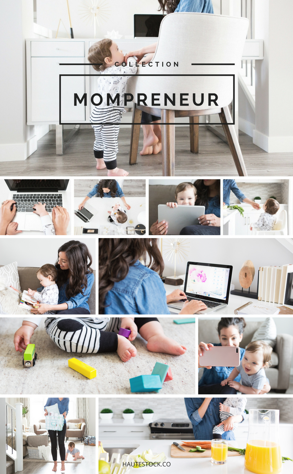 Modern Mompreneur Stock Photos from Haute Stock Images