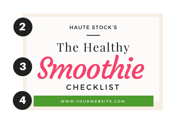 The next steps to creating an eye-catching checklist/worksheet is color blocking, title and adding your url! Learn the next steps by reading Haute Stock's full blog post!
