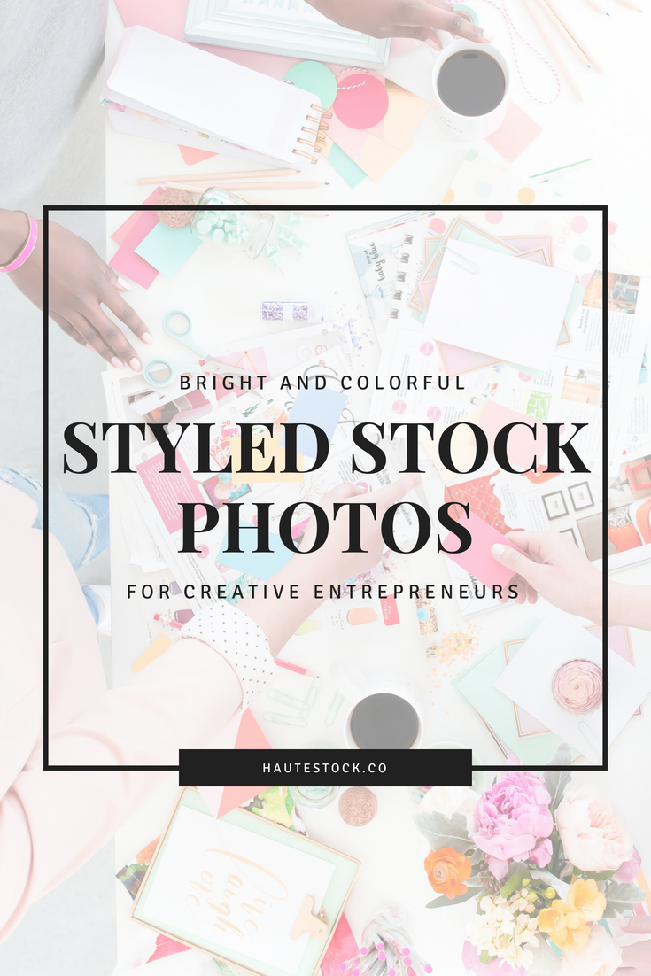 Haute Stock's bright and colorful styled stock photos for creative entrepreneurs